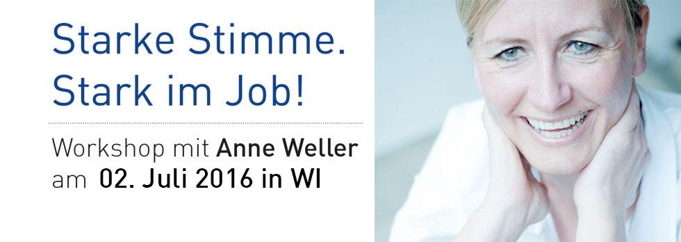 Stimm- & Sprechtraining mit Anne Weller am 02.07.16